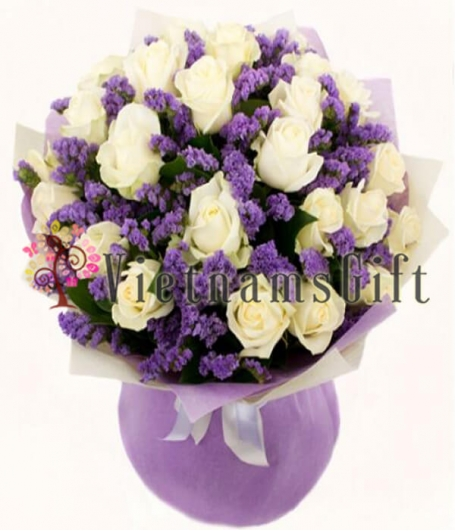 Two Dozens Roses In Bouquet