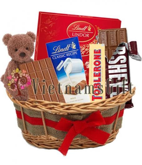 Chocolate Basket - Christmas Holiday Cheer Basket